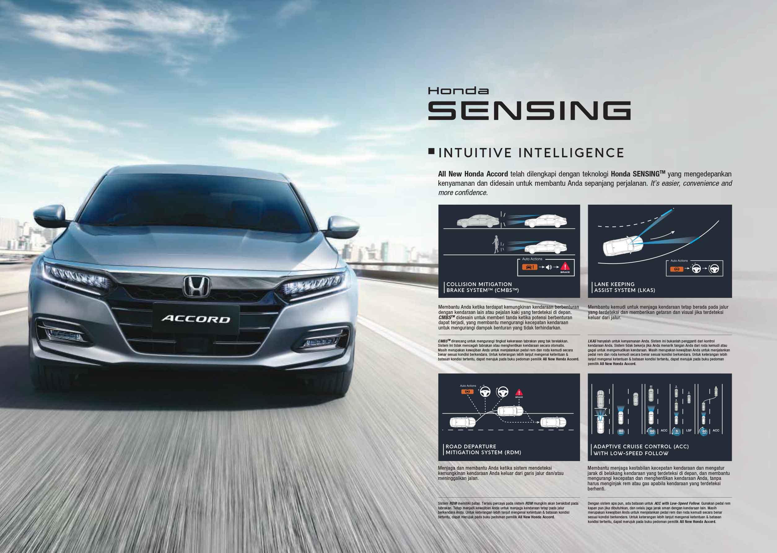 Mengenal teknologi Honda Sensing pada Honda Accord & Honda CR-V